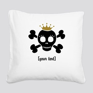 [Your text] Princess Skull Square Canvas Pillow
